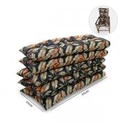 Kit 5 Almofadas Para Cadeiras de Bambu e Vime Helicônia