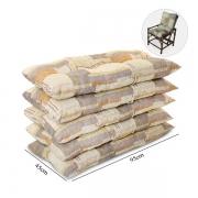Kit 5 Almofadas Para Cadeiras de Bambu e Vime Retalho Bege