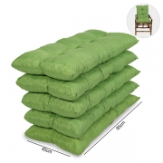 Kit 5 Almofadas Para Cadeiras de Bambu e Vime Verde
