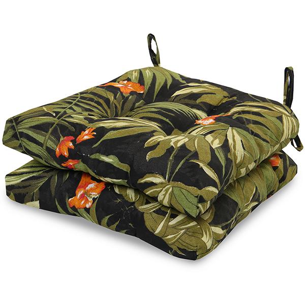 2 Almofadas para Assento de Cadeiras Tropical