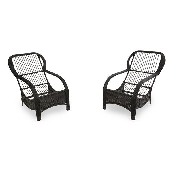 2 Cadeiras de Fibra com Almofadas Bambu Claro