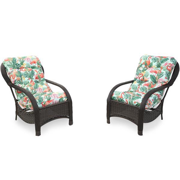 2 Cadeiras de Fibra com Almofadas Impermeáveis Aruba