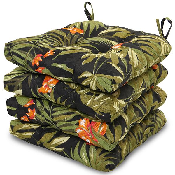 4 Almofadas para Assento de Cadeiras Tropical