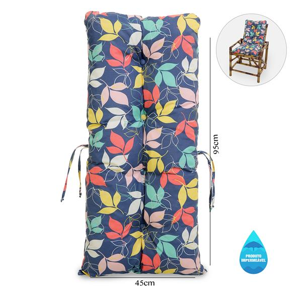 Almofada Impermeável Para Cadeiras de Bambu e Vime Barça