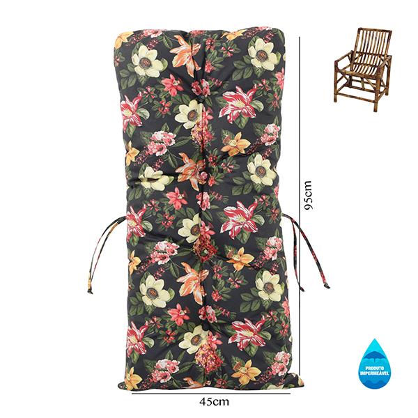Almofada Impermeável Para Cadeiras de Bambu e Vime Havana
