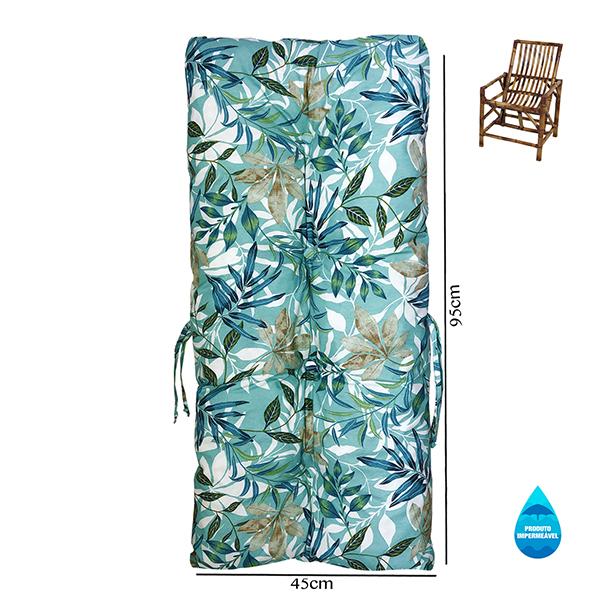 Almofada Impermeável Para Cadeiras de Bambu e Vime Tiffany