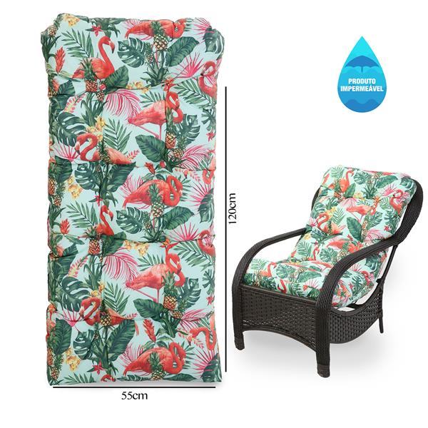 Almofada Impermeável Para Cadeiras de Fibra Aruba