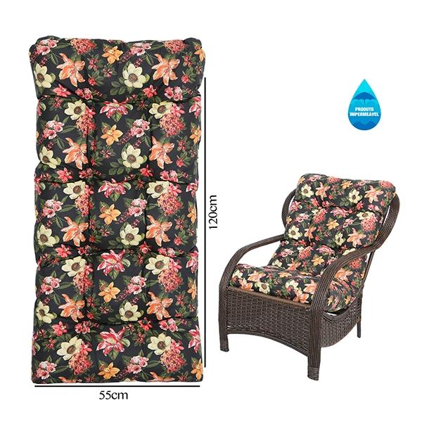 Almofada Impermeável Para Cadeiras de Fibra Havana