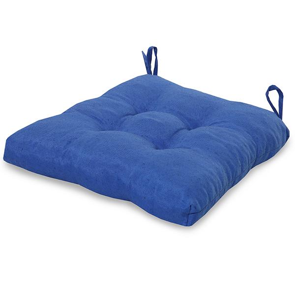 Almofada para Assento de Cadeira Azul