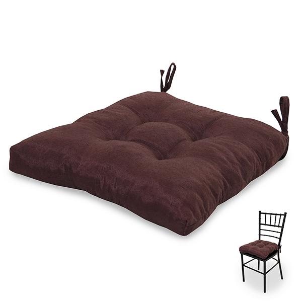 Almofada para Assento de Cadeira  Marrom