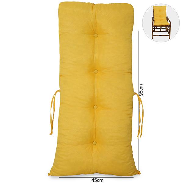 Almofada Para Cadeiras de Bambu e Vime Amarela