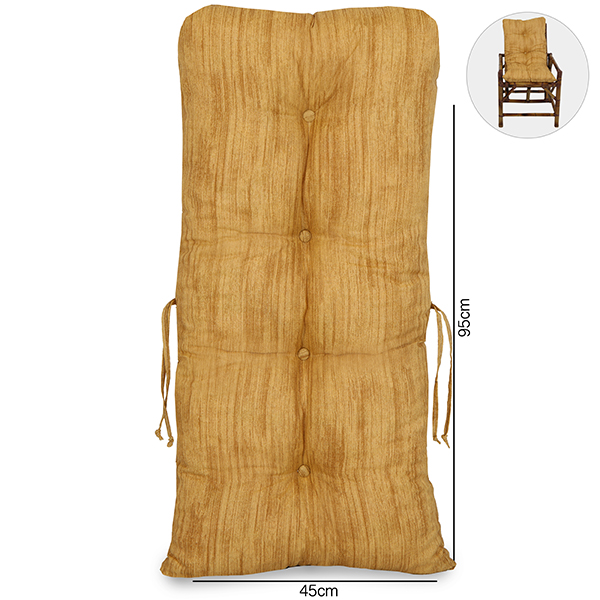 Almofada Para Cadeiras de Bambu e Vime Amarelo Mesclado