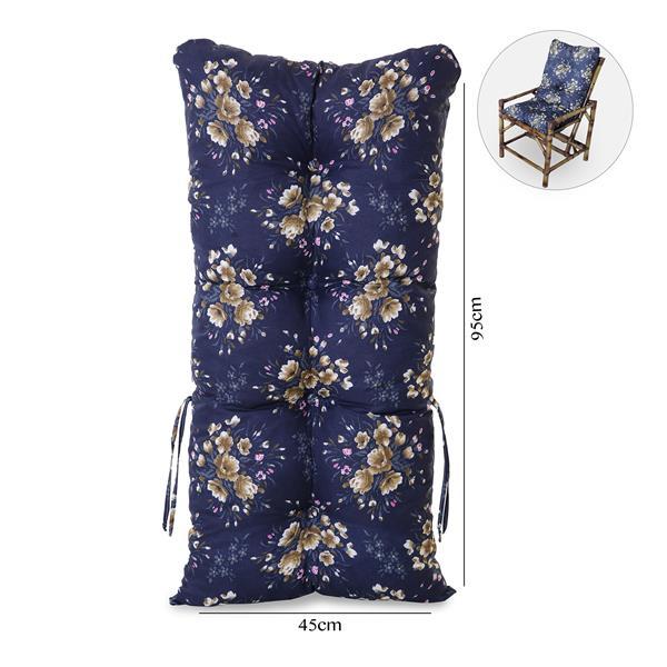 Almofada Para Cadeiras de Bambu e Vime Azul Florida