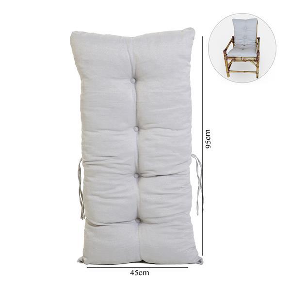 Almofada Para Cadeiras de Bambu e Vime Cinza