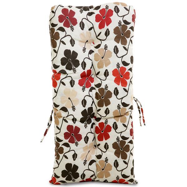 Almofada Para Cadeiras de Bambu e Vime Flores Hibiscos