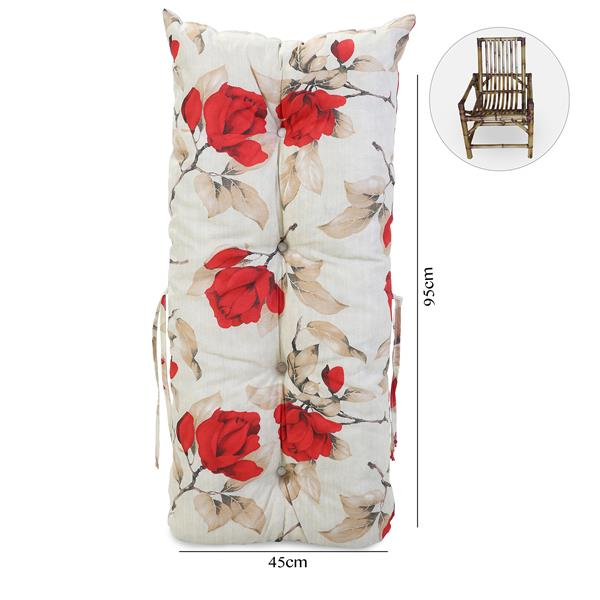 Almofada Para Cadeiras de Bambu e Vime Lucélia Vermelho