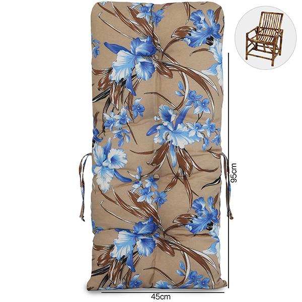 Almofada Para Cadeiras de Bambu e Vime Orquídea Azul