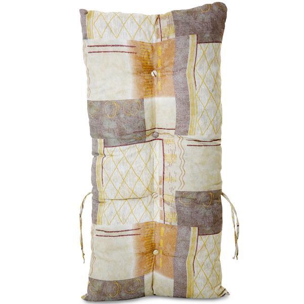 Almofada Para Cadeiras de Bambu e Vime Retalho Bege