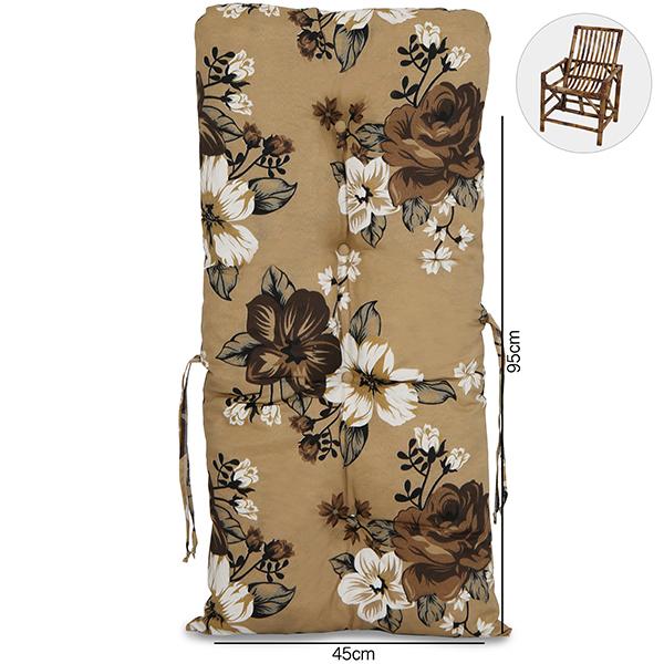 Almofada Para Cadeiras de Bambu e Vime Zenaide Marrom