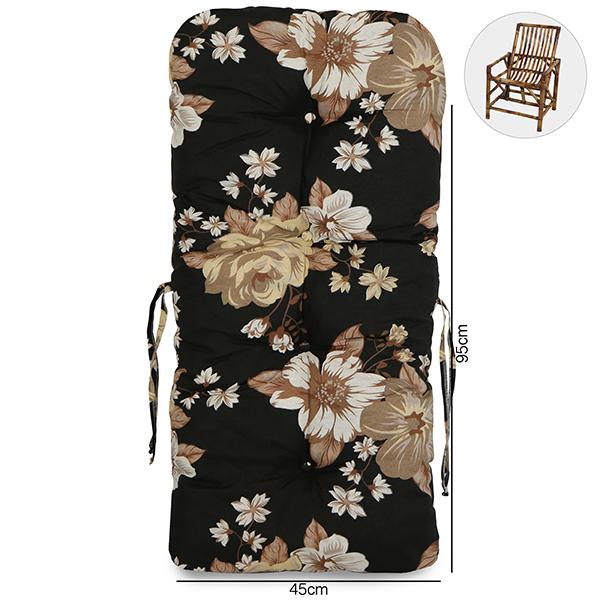 Almofada Para Cadeiras de Bambu e Vime Zenaide Preto