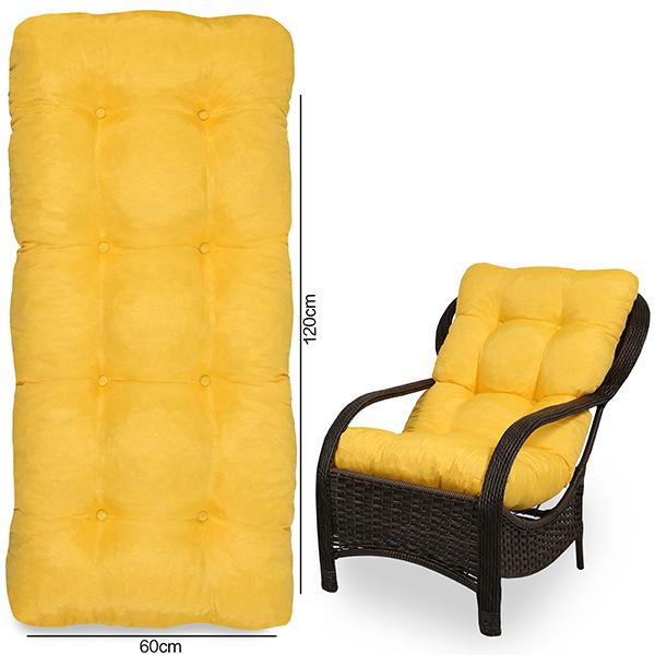 Almofada Para Cadeiras de Fibra Amarela