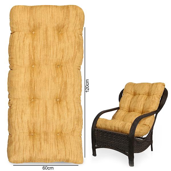 Almofada Para Cadeiras de Fibra Amarelo Mesclado