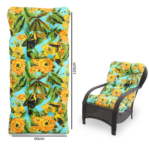 Almofada Para Cadeiras de Fibra Flor Amarela