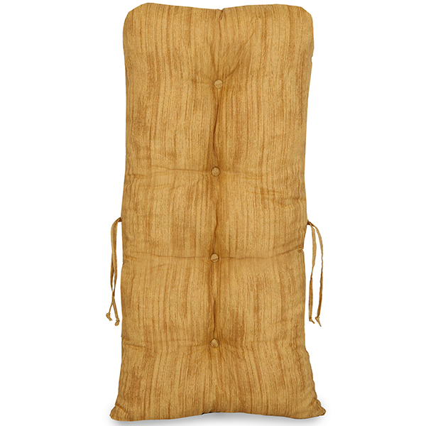 Cadeira de Bambu 1 Lugar com Almofada Amarelo Mesclado