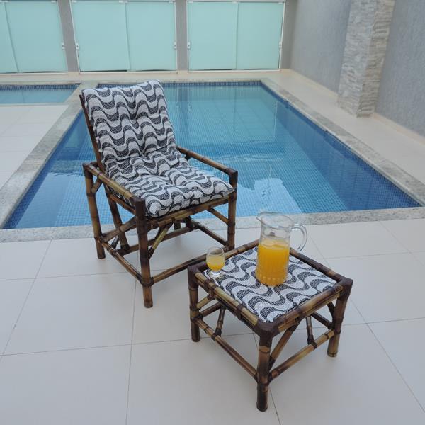 Cadeira de Bambu 1 Lugar com Almofada Copacabana