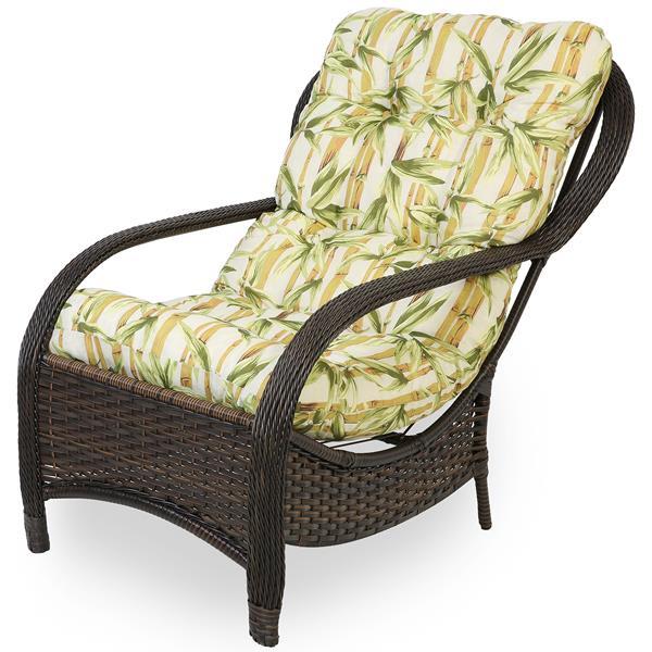 Cadeira de Fibra Com Almofada Bambu Claro