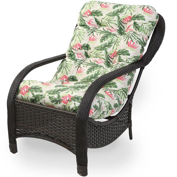 Cadeira de Fibra Com Almofada Impermeável Flor