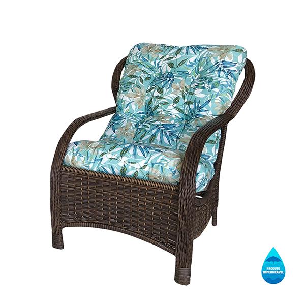 Cadeira de Fibra Com Almofada Impermeável Tiffany