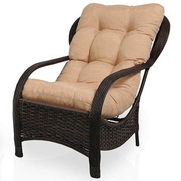 Cadeira de Fibra Com Almofada Nude