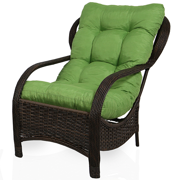 Cadeira de Fibra Com Almofada Verde
