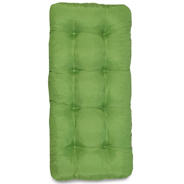Cadeira de Fibra com Mesa e Almofada Verde
