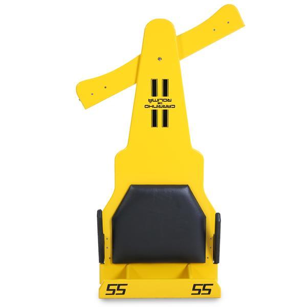Carrinho de Rolimã F1 Com Rodas de Skate Amarelo 55