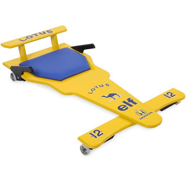 Carrinho de Rolimã F1 Com Rodas de Skate Lotus Amarelo