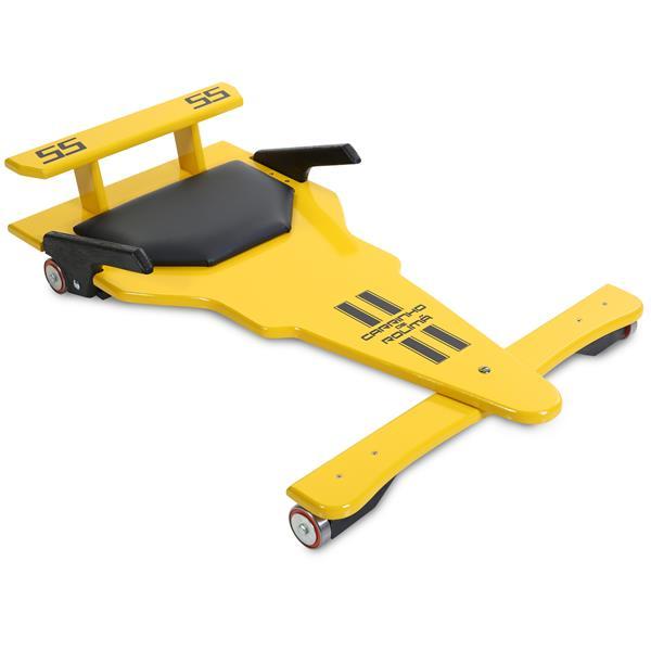 Carrinho de Rolimã F1 Junior Amarelo 55
