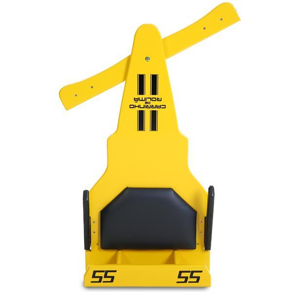 Carrinho de Rolimã F1 Junior Com Rodas de Skate Amarelo 55