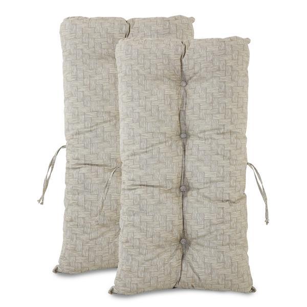 Kit 2 Almofadas Impermeáveis P/ Cadeiras de Bambu/Vime Bege