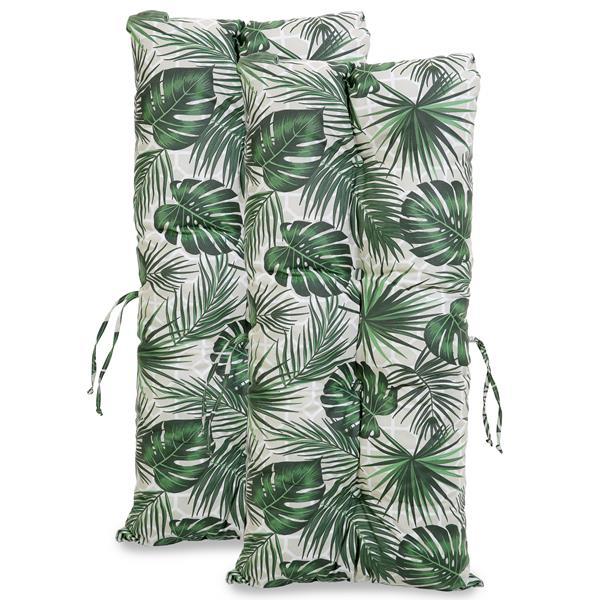 Kit 2 Almofadas Impermeáveis P/ Cadeiras de Bambu/Vime Folha