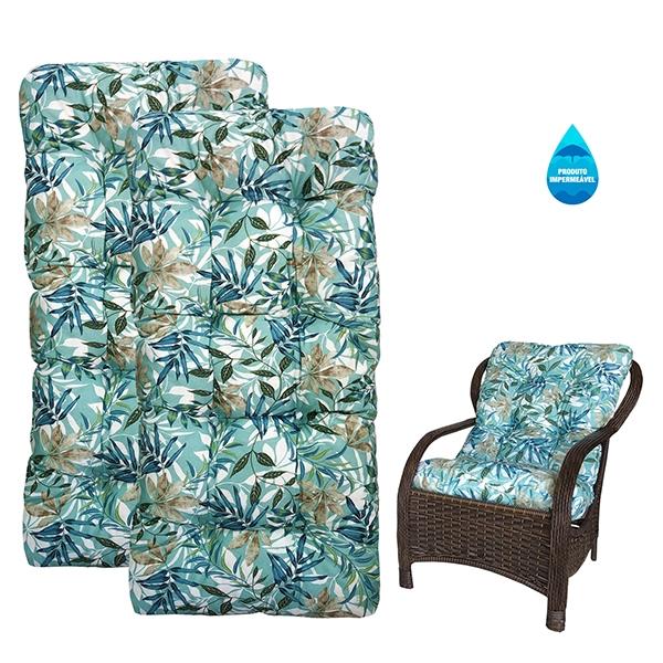 Kit 2 Almofadas Impermeáveis Para Cadeiras de Fibra Tiffany