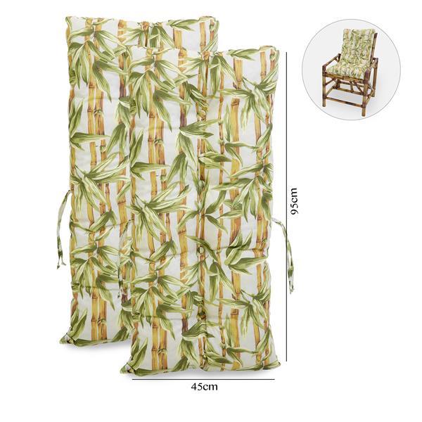 Kit 2 Almofadas Para Cadeiras de Bambu e Vime Bambu Claro