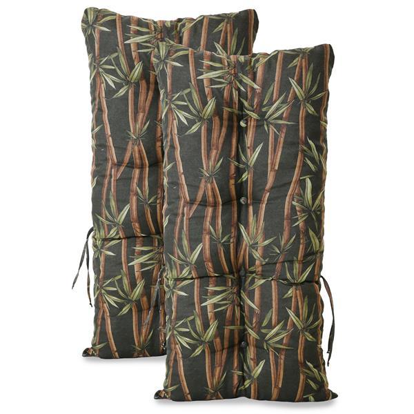 Kit 2 Almofadas Para Cadeiras de Bambu e Vime Bambu Escuro