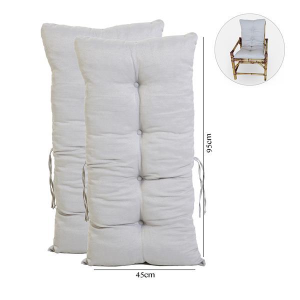 Kit 2 Almofadas Para Cadeiras de Bambu e Vime Cinza