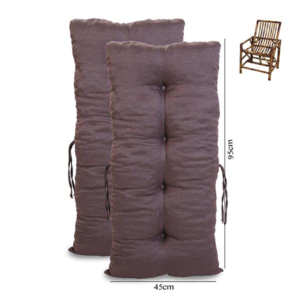 Kit 2 Almofadas Para Cadeiras de Bambu e Vime Cores Lisa