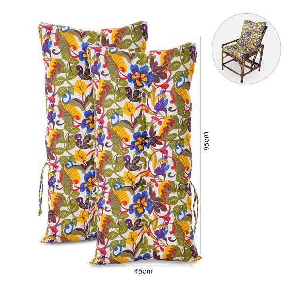 Kit 2 Almofadas Para Cadeiras de Bambu e Vime Floral