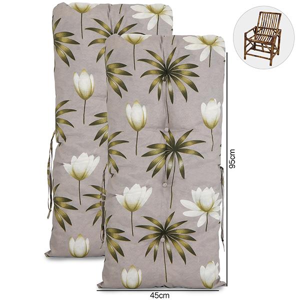 Kit 2 Almofadas Para Cadeiras de Bambu e Vime Heradia Musgo