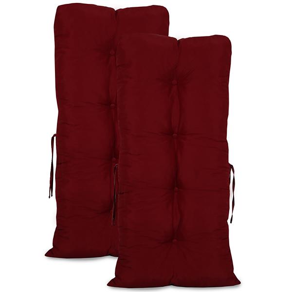 Kit 2 Almofadas Para Cadeiras de Bambu e Vime Marsala