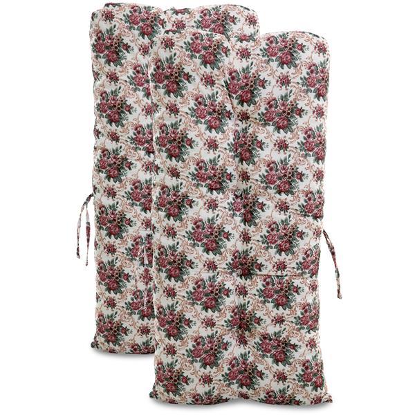 Kit 2 Almofadas Para Cadeiras de Bambu e Vime Mini Rosa